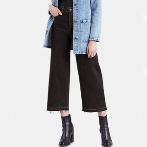 Levi's • Mile High Wide-Leg Cropped Jeans Black